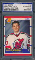 Martin Brodeur Signed 1990-91 Score #439 RC (PSA Encapsulated) at PristineAuction.com