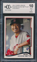 Mookie Betts 2014 Topps Update #US26B In dugout RC (BCCG 10) at PristineAuction.com