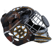 "Gerry Cheevers Signed Bruins Full-Size Hockey Goalie Mask Inscribed ""HOF 85"" (Fanatics Hologram) at PristineAuction.com"