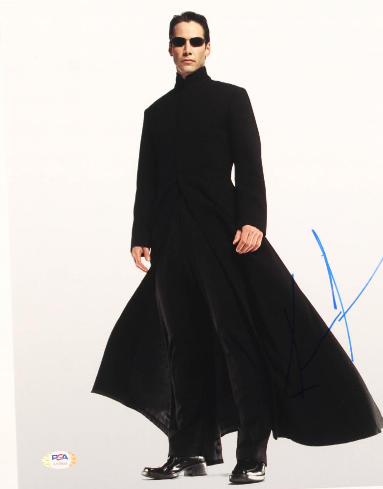 "Keanu Reeves Signed ""The Matrix"" 11x14 Photo (PSA Hologram) at PristineAuction.com"