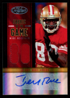 Jerry Rice 2012 Certified Fabric of the Game Jersey Number Autographs Prime #19 at PristineAuction.com