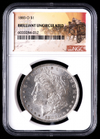 1883-O $1 Stage Coach Morgan Silver Dollar (NGC BU) at PristineAuction.com