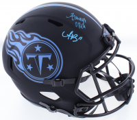 "A.J. Brown Signed Titans Full-Size Eclipse Alternate Speed Helmet Inscribed ""Always Open"" (JSA COA) at PristineAuction.com"