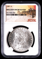 1889 $1 Stage Coach Morgan Silver Dollar (NGC BU) at PristineAuction.com
