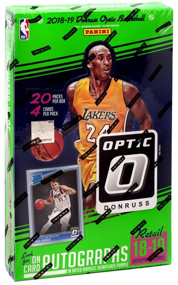 2018-19 Panini Donruss Optic Basketball Retail Box with (20) Packs at PristineAuction.com