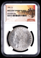 1896 $1 Stage Coach Morgan Silver Dollar (NGC BU) at PristineAuction.com