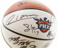 Suns Logo Basketball Team-Signed by (12) with Amar'e Stoudemire, Shawn Marion, Steve Nash, Boris Diaw (JSA ALOA) at PristineAuction.com