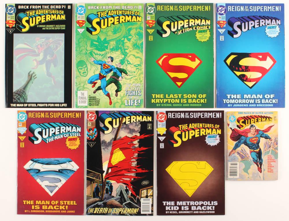 "Lot of (8) 1979-1993 ""Superman"" DC Comic Books at PristineAuction.com"