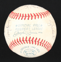 1972 Yankees OAL Baseball Team-Signed by (24) with Thurman Munson, Gene Michael, Sparky Lyle, Mel Stottlemyre, Felipe Alou, Johnny Callison, Ron Blomberg, Celerino Sanchez (JSA LOA) at PristineAuction.com