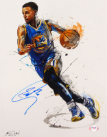 Steph Curry Signed Warriors 11x14 Photo (PSA COA) at PristineAuction.com