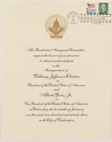 1993 Inauguration Invitation for President Bill Clinton & Al Gore at PristineAuction.com