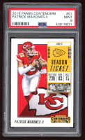 Patrick Mahomes II 2018 Panini Contenders #51 (PSA 9) at PristineAuction.com