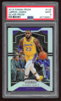 LeBron James 2019-20 Panini Prizm Prizms Silver #129 (PSA 9) at PristineAuction.com