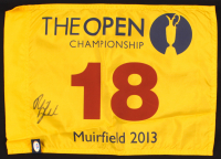 Phil Mickelson Signed 2013 The Open Championship Flag (PSA COA) at PristineAuction.com