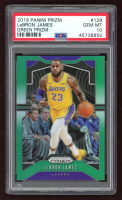 LeBron James 2019-20 Panini Prizm Prizms Choice Green #129 (PSA 10) at PristineAuction.com