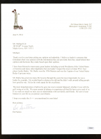 Hal Sutton Signed Letter (JSA COA) at PristineAuction.com