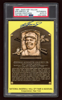Ken Griffey Jr. Signed Yellow Hall of Fame Plaque Postcard (PSA Encapsulated) at PristineAuction.com