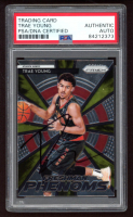 Trae Young Signed 2018-19 Panini Prizm Freshman Phenoms Prizms Green #21 (PSA Encapsulated) at PristineAuction.com