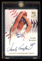 Sandy Koufax 2001 Topps Golden Anniversary Autographs #GAASK at PristineAuction.com