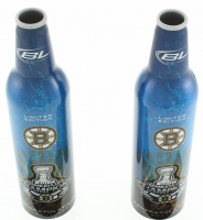 Lot of (2) Signed LE Bruins 2011 Stanley Cup Champions Bud Light Bottles with Patrice Bergeron & Chris Kelly (Bergeron COA & Kelly COA) at PristineAuction.com