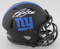 Saquon Barkley Signed Giants Eclipse Alternate Speed Mini Helmet (Beckett COA) at PristineAuction.com