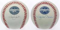 Lot of (2) OML Yankee Stadium Inaugural Season Logo Baseballs Signed by Derek Jeter & Mariano Rivera (Steiner COA) at PristineAuction.com