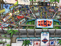 Charles Fazzino Signed Saints Super Bowl XLIV 4.5x11 LE Pop Art Display (PA LOA) at PristineAuction.com