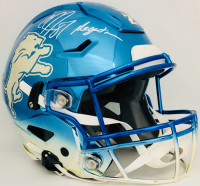 """Calvin Johnson Signed Lions Full-Size Authentic On-Field SpeedFlex Helmet Inscribed """"Megatron"""" (Beckett COA) at PristineAuction.com"""