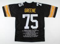 Joe Greene Signed Career Highlight Stat Jersey (PSA COA) at PristineAuction.com
