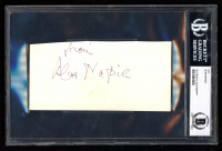 """Alan Napier Signed 2x3.5 Cut Inscribed """"From"""" (BGS Encapsulated) at PristineAuction.com"""