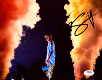 Travis Scott Signed 8x10 Photo (PSA COA) at PristineAuction.com