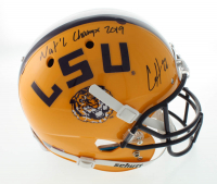 "Clyde Edwards-Helaire Signed LSU Tigers Full-Size Helmet Inscribed ""Nat'l Champs 2019"" (Beckett COA) at PristineAuction.com"