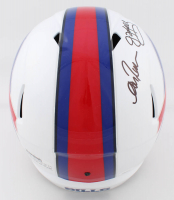 Jim Kelly, Thurman Thomas & Andre Reed Signed Bills Full-Size Speed Helmet (JSA COA) at PristineAuction.com