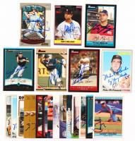 Lot of (23) Signed Baseball Cards with #195 Bartolo Colon, #FG3 Ryan Braun, #96 Larry Walker, #UH253 Matt Holiday, #289 Josh Hamilton, #181 Nomar Garciaparra, #337 Mike McCormick (JSA ALOA) at PristineAuction.com