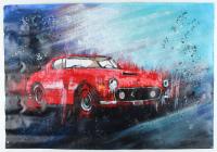 "Rodney Weng - ""FERRARI 250"" 25x36 Original Oil Panting on Linen (PA LOA) at PristineAuction.com"