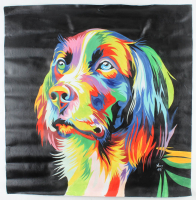 """Rodney Weng - """"Man's Best Friend"""" 29x29 Original Oil Panting on Linen (PA LOA) at PristineAuction.com"""