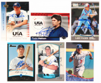 Lot of (15) Signed Baseball Cards with Mike Piazza Signed 1994 Leaf #436, Max Scherzer Signed 2005-06 USA Baseball National Team #56, Josh Hamilton Signed 2000 Bowman #328 (JSA ALOA) at PristineAuction.com