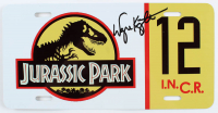 "Wayne Knight Signed ""Jurassic Park"" #12 Jeep License Plate - Movie Prop Replica (PA COA) at PristineAuction.com"