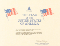American Flag Flown Over the Capitol on September 11, 2017 (Architect of the Capitol COA) at PristineAuction.com