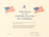 American Flag Flown Over the Capitol on April 6, 2017 (Architect of the Capitol COA) at PristineAuction.com