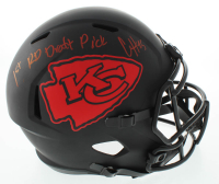 "Clyde Edwards-Helaire Signed Chiefs Full-Size Eclipse Alternate Speed Helmet Inscribed ""1st Rd Draft Pick"" (Beckett COA) at PristineAuction.com"