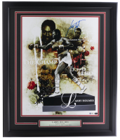 Larry Holmes Signed 22x27 Custom Framed Photo Display (Beckett COA) at PristineAuction.com