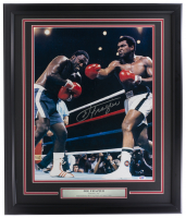 Joe Frazier Signed 22x27 Custom Framed Photo Display (PSA COA) at PristineAuction.com
