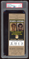 Authentic 1981 Thomas Hearns Vs. Sugar Ray Leonard Boxing Match Ticket (PSA Encapsulated) at PristineAuction.com