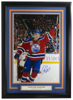 Connor McDavid Signed Oilers 16x20 Custom Framed Photo Display (JSA COA) at PristineAuction.com