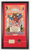 "Disney World ""Pirates of the Caribbean"" 14.5x25.5 Custom Framed Print with Pirates of the Caribbean Pin & Vintage Ticket at PristineAuction.com"