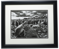 Seals of Saint Andrews 16x20 Custom Framed Photo Display at PristineAuction.com