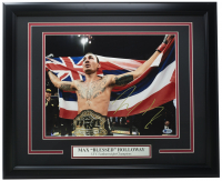 "Max ""Blessed"" Holloway Signed UFC 16x20 Custom Framed Photo Display (Beckett COA) at PristineAuction.com"