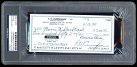 Walt Cunningham Signed 1998 Personal Bank Check (PSA Encapsulated) at PristineAuction.com