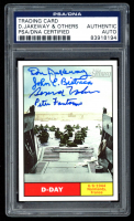 2009 Topps American Heritage Heroes #119 D-Day Signed by (4) with Don Jakeway, John Bistrica, Bernard Nolan, & Peter Fanatacone (PSA Encapsulated) at PristineAuction.com